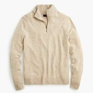 J.Crew Rugged Merino Half Zip Wool Sweater Med